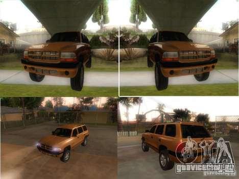 Dodge Durango 1998 для GTA San Andreas вид справа