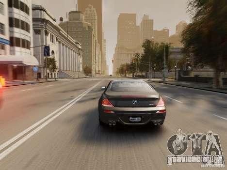 BMW M6 2010 для GTA 4 двигатель