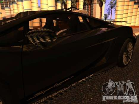 Lamborghini Gallardo Underground Racing для GTA San Andreas вид снизу