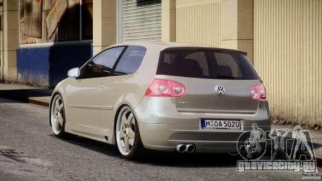 Volkswagen Golf GTI 2006 v1.0 для GTA 4 вид сзади слева