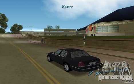 Ford Crown Victoria для GTA Vice City вид справа