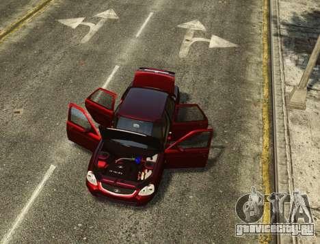 ВАЗ 2170 Lada Priora для GTA 4 салон
