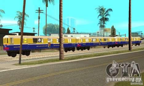Liberty City Train Italian для GTA San Andreas вид слева