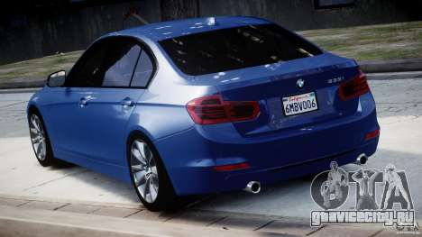 BMW 335i E30 2012 Sport Line v1.0 для GTA 4 вид сзади слева