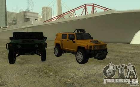 Hummer H3R для GTA San Andreas вид сверху