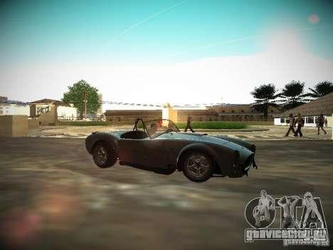 Shelby Cobra для GTA San Andreas вид слева