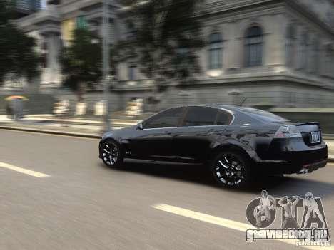 Pontiac G8 GXP для GTA 4 вид сзади