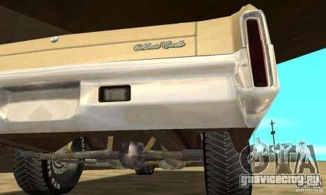 Chevy Monte Carlo [F&F3] для GTA San Andreas вид сбоку