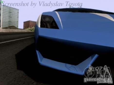 Lamborghini Gallardo LP560-4 Polizia для GTA San Andreas вид изнутри