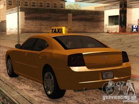 Dodge Charger STR8 Taxi для GTA San Andreas вид справа