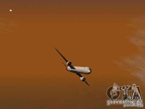 Boeing 787 Dreamliner Qantas для GTA San Andreas вид сверху
