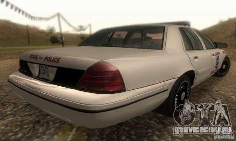 Ford Crown Victoria Louisiana Police для GTA San Andreas вид слева