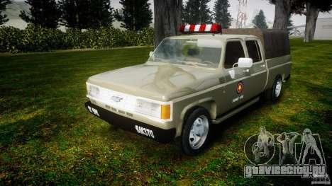 Chevrolet D20 Brigada Militar RS для GTA 4 вид сзади