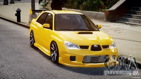 Subaru Impreza STI для GTA 4 вид сзади