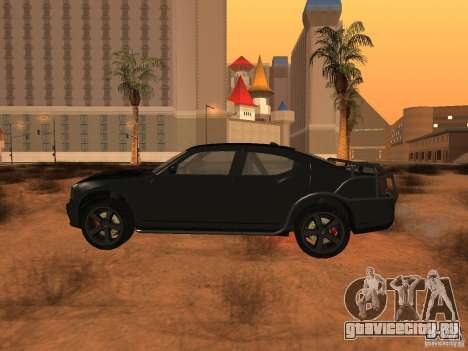 Dodge Charger Fast Five для GTA San Andreas вид слева