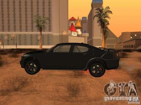 Dodge Charger Fast Five для GTA San Andreas вид слева