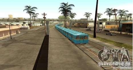 Метро типа ЕЖ для GTA San Andreas вид сзади слева
