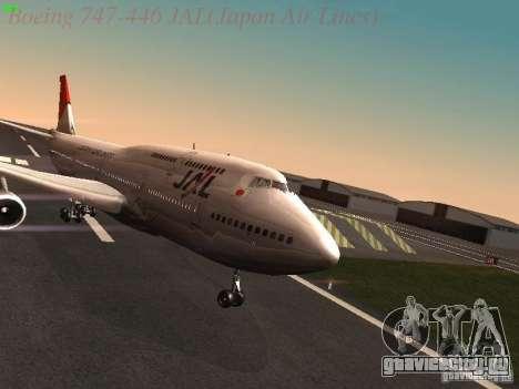 Boeing 747-446 Japan-Airlines для GTA San Andreas