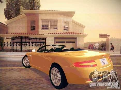 Aston Martin DB9 Volante v.1.0 для GTA San Andreas вид справа