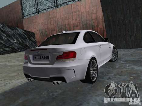 BMW 1M Coupe RHD для GTA Vice City вид справа
