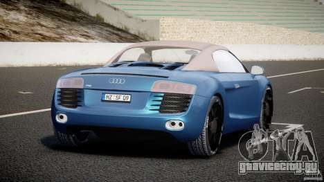 Audi R8 Spyder v2 2010 для GTA 4 вид сзади слева