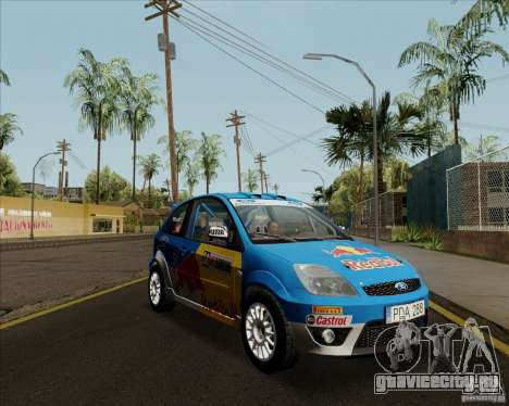 Ford Fiesta ST Rally для GTA San Andreas вид сзади слева