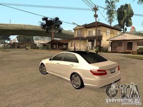 Mercedes-Bens e63 AMG для GTA San Andreas вид сзади слева