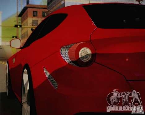 Ferrari FF Sport 2011 для GTA San Andreas вид изнутри