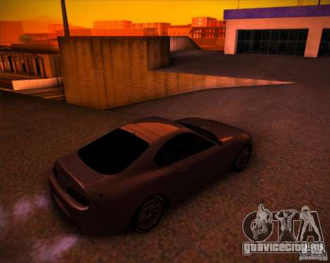 Toyota Supra SHE для GTA San Andreas вид сзади