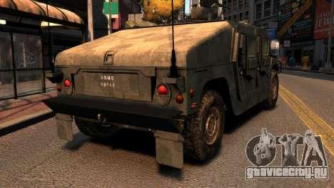 HMMWV M1114 для GTA 4 вид сзади слева