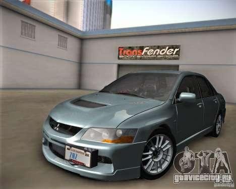 Mitsubishi Lancer Evolution IX Tunable для GTA San Andreas вид справа