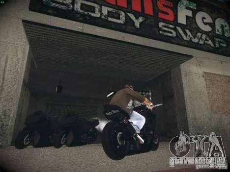 Aprilia RSV4 для GTA San Andreas вид сзади слева