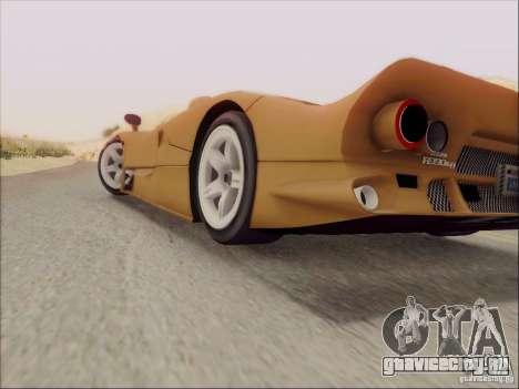 Nissan R390 Road Car v1.0 для GTA San Andreas вид изнутри