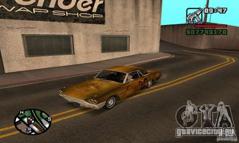 Ford Thunderbird 1964 для GTA San Andreas вид сзади
