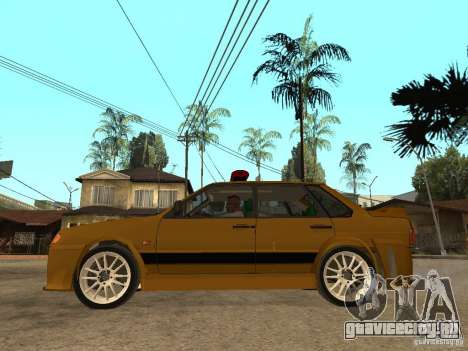 ВАЗ 2115 Police Tuning для GTA San Andreas вид слева