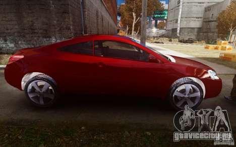 Pontiac G6 для GTA 4 вид изнутри