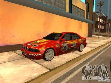 BMW 5-er E39 v2 для GTA San Andreas вид слева