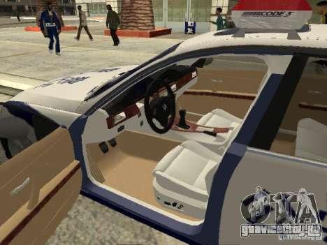 BMW 3 Series China Police для GTA San Andreas вид изнутри