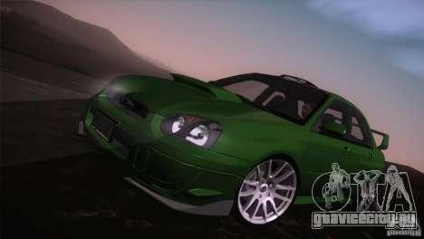 Subaru Impreza WRX STi для GTA San Andreas вид снизу