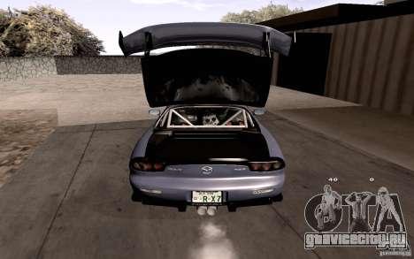 Mazda RX-7 Hellalush для GTA San Andreas двигатель