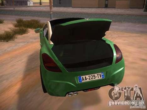 Peugeot RCZ 2010 для GTA San Andreas вид сбоку