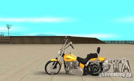 Harley Davidson softail Skin 1 для GTA San Andreas вид слева