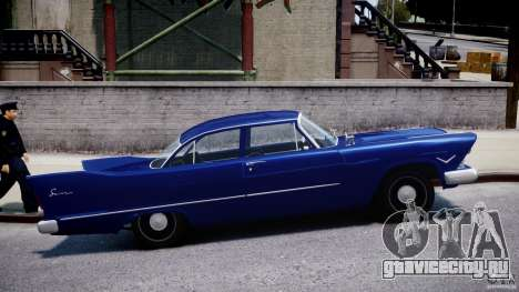Plymouth Savoy Club Sedan 1957 для GTA 4 вид изнутри
