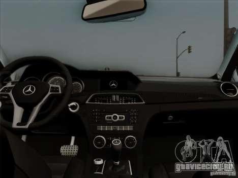 Mercedes Benz C63 AMG Coupe Presiden Indonesia для GTA San Andreas вид изнутри