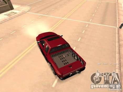 Dodge Ram 2010 для GTA San Andreas вид изнутри