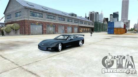Chevrolet Corvette C6 Convertible v1.0 для GTA 4 вид сбоку