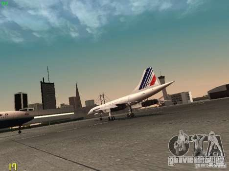 Aerospatiale-BAC Concorde Air France для GTA San Andreas вид справа