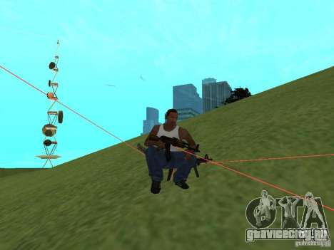 Laser Weapon Pack для GTA San Andreas шестой скриншот