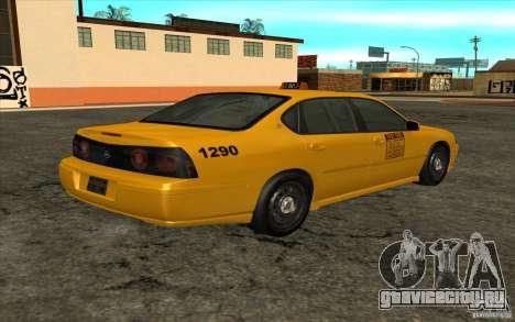 Chevrolet Impala Taxi 2003 для GTA San Andreas вид слева