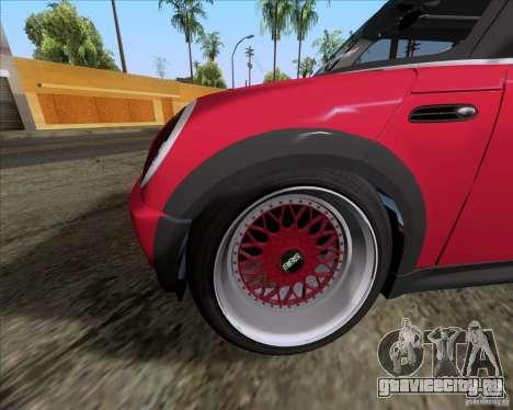 Mini Cooper S Euro для GTA San Andreas вид изнутри